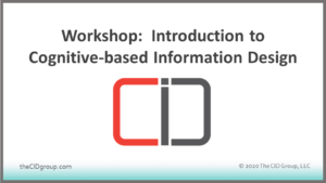 Workshop: Introduction to Cognitive-based Information Design