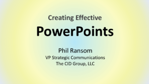Creating your PowerPoint deck with CID, knowing how the brain processes visual information